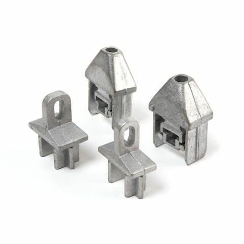Aluminium aansluiting voor spijlenhekwerk