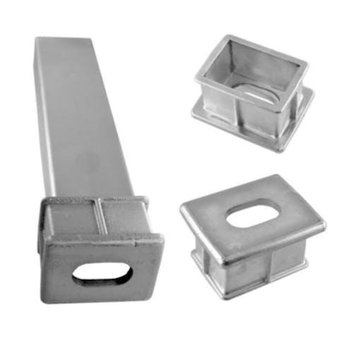 Aluminium grondpot voor grondgrendel