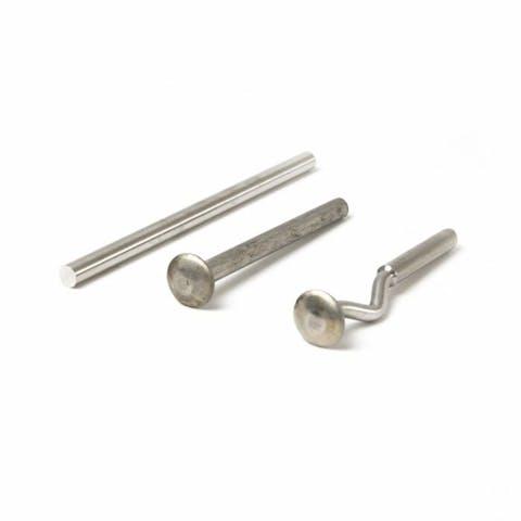 RVS pen voor aluminium spijlenhekwerk aansluiting